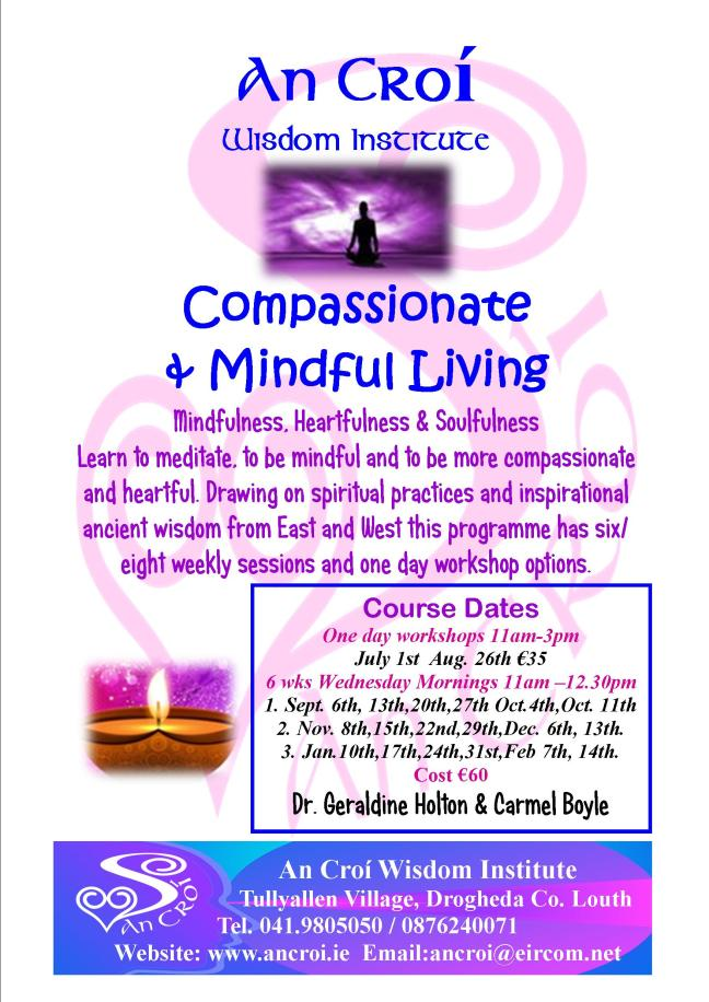 Compassionate and Mindful Living Flyer 2017 a