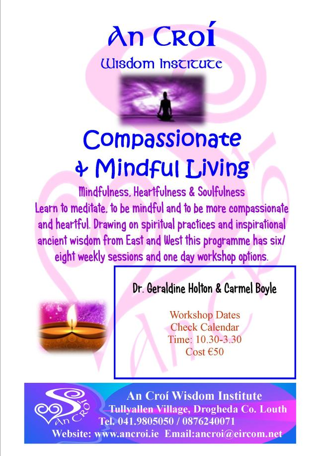 Compassionate and Mindful Living Flyer 2018