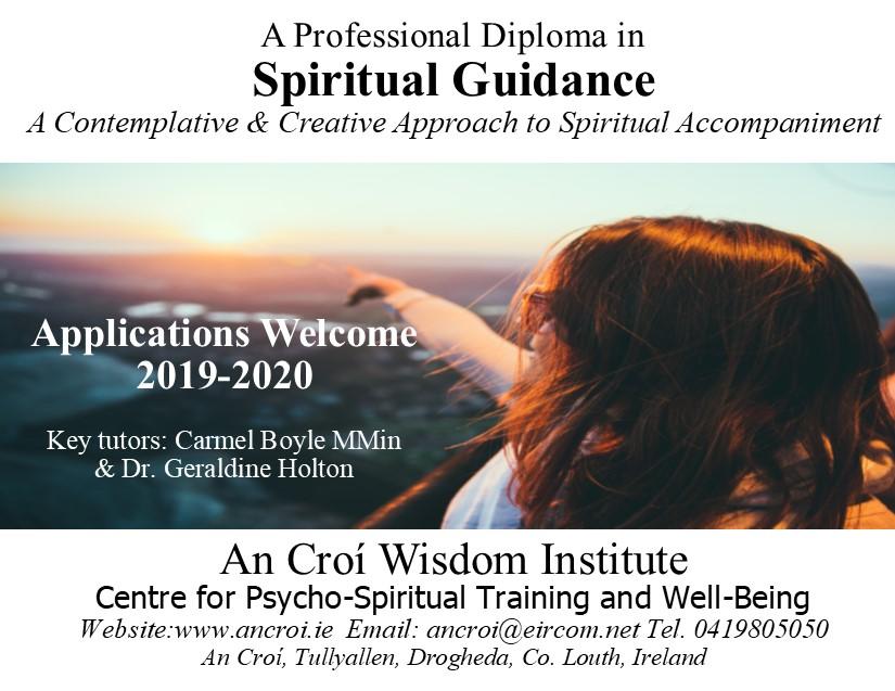 Professional Diploma In Spiritual Guidance Direction An Cro